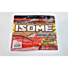 Силиконовая приманка Marukyu Isome (L) IS-09 glow red