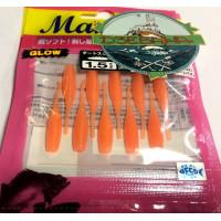 """Силиконовая приманка Yamashita (Maria) Dart Squid 1.5"""" оранжевый светонакопительный"""